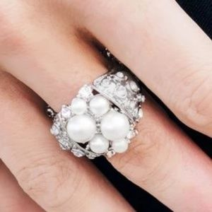 More Power To You - White Pearl Ring